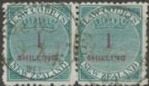 NZ Revenue LAW COURTS 1/- green & red pair (NREV/121)